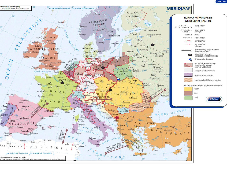 Europa po Kongresie Wiedeńskim 1815-1846