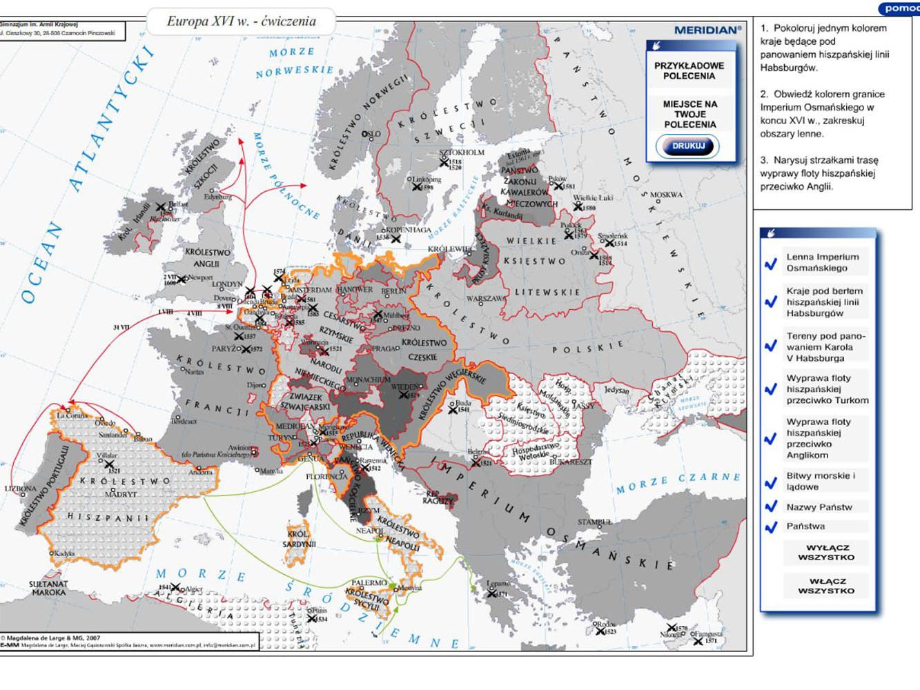 Europa w XVIw - ćwiczenia