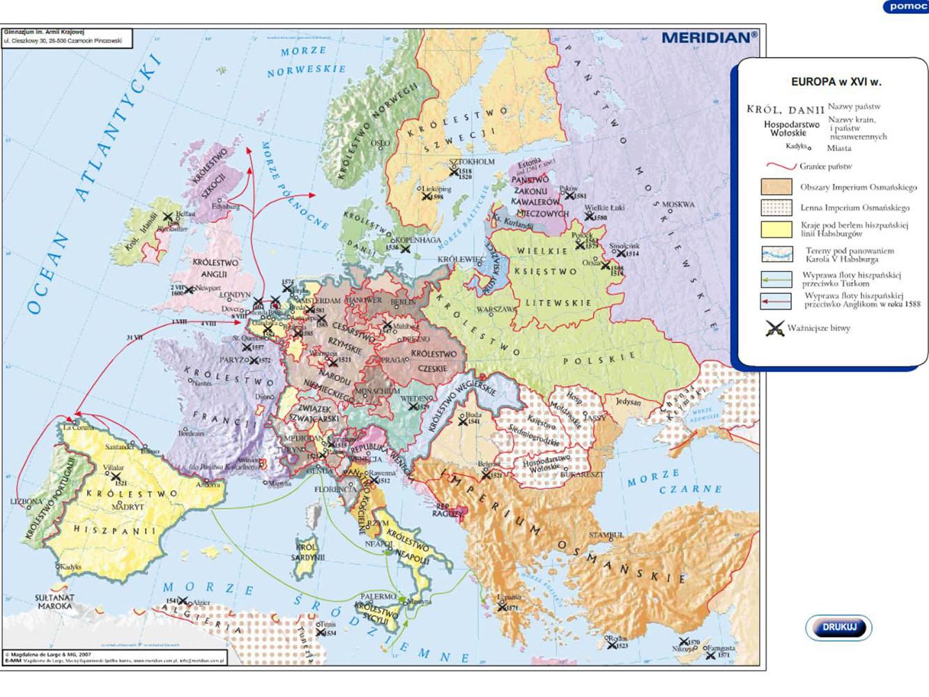Europa w XVIw