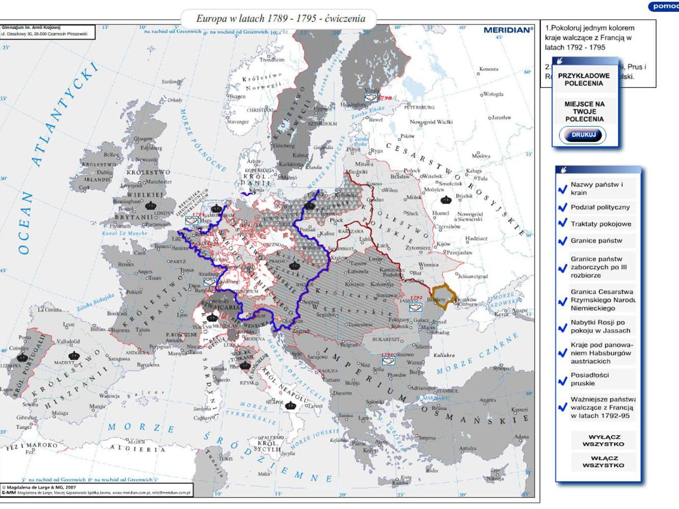 Europa w latach 1789-1795 - ćwiczenia