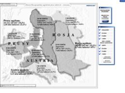 Obszary Rzeczypospolitej zagrabione przez zaborców - ćwiczenia