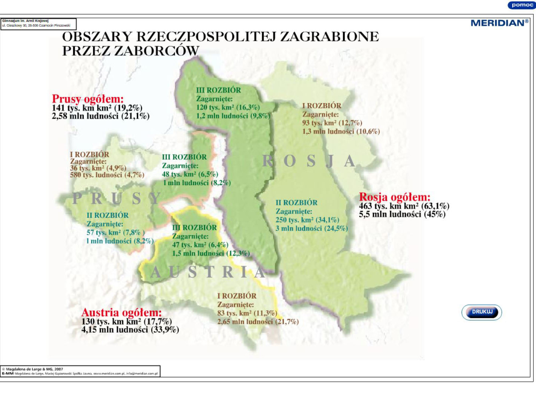 Obszary Rzeczypospolitej zagrabione przez zaborców