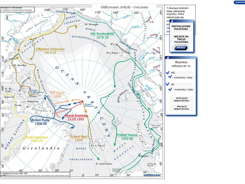 Odkrywanie Arktyki - ćwiczenia