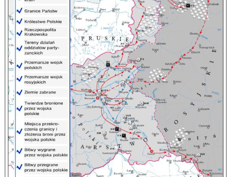 Powstanie listopadowe i wojna polsko-rosyjska - ćwiczenia
