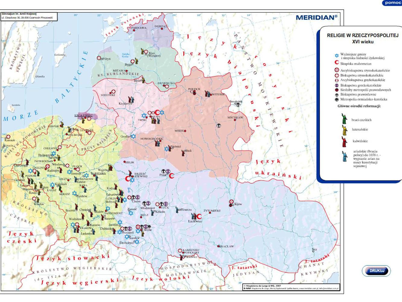 Religie w Rzeczypospolitej w XVIw