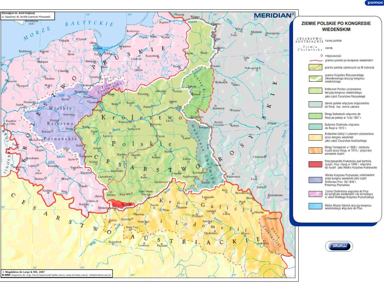Ziemie polskie po Kongresie Wiedeńskim