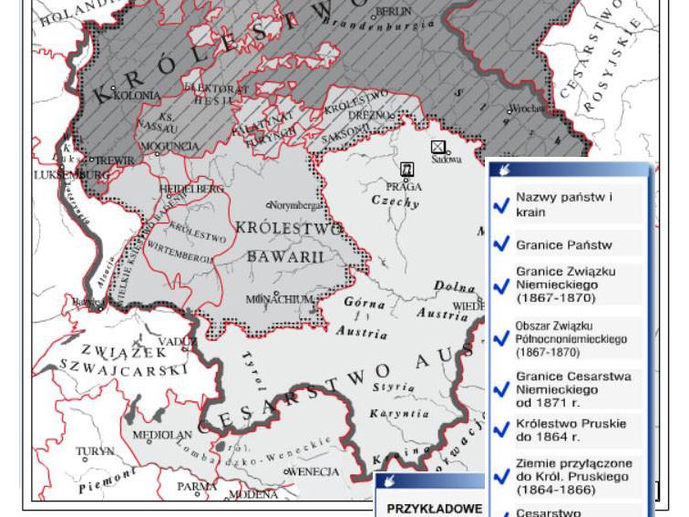Zjednoczenie Niemiec w XIXw - ćwiczenia